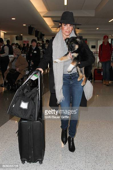 Nikki Reed is seen at LAX on January 14 2016 in Los Angeles California