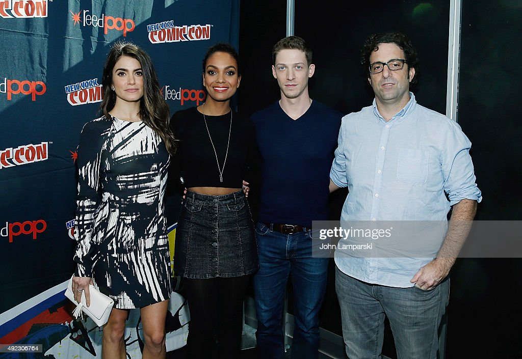 Nikki Reed, Lyndie Greenwood, Zach Appelman and Writer Raven Metzner of the television series Sleepy Hollow attends New York Comic-Con 2015 day 4 at the Jacob K. Javits Convention Center on October 11, 2015 in New York City.
