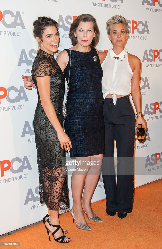 Nikki Reed, Milla Jovovich and Kaley Cuoco-Sweeting arrive at the ASPCA event Honoring Kaley Cuoco-Sweeting And Nikki Reed on October 22, 2014 in Belair, California.
