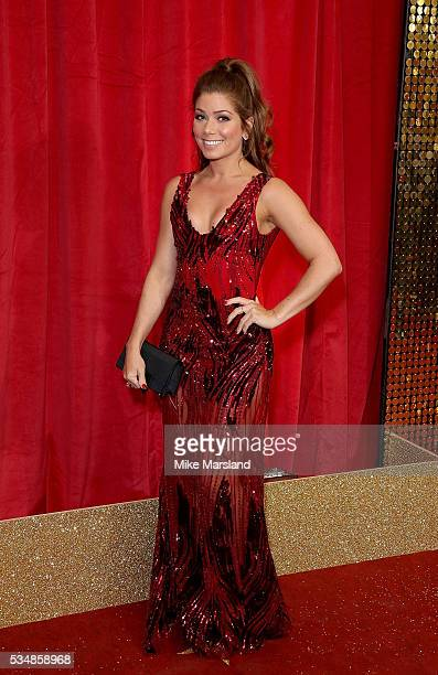 Nikki Sanderson attends the British Soap Awards 2016 at Hackney Empire on May 28 2016 in London England