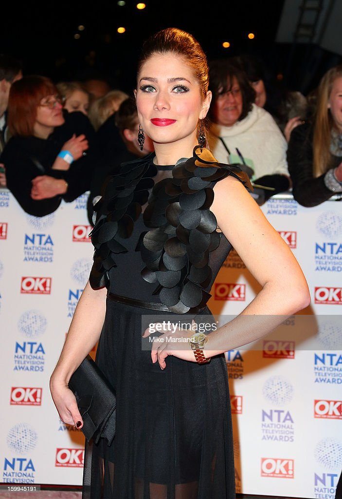 Nikki Sanderson attends the National Television Awards at 02 Arena on January 23, 2013 in London, England.