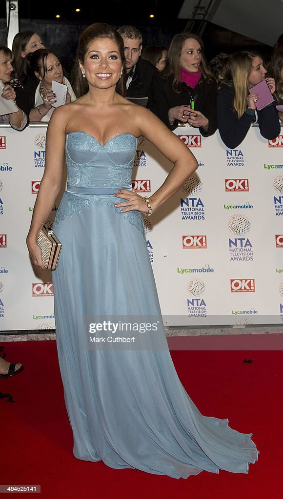Nikki Sanderson attends the National Television Awards at 02 Arena on January 22, 2014 in London, England.