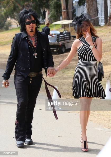 Nikki Sixx and Courtney Bingham attend the 3rd Annual Veuve Clicquot Polo Classic at Will Rogers State Historic Park on October 6 2012 in Pacific...