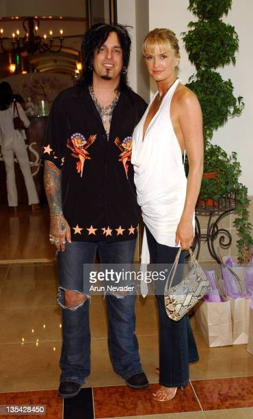 Nikki Sixx and Kylie Bax during Donna D'Errico Energy Muse Jewelry and Belladonna Public Relations Host an Open House Reception at ZENSPA at ZENSPA...