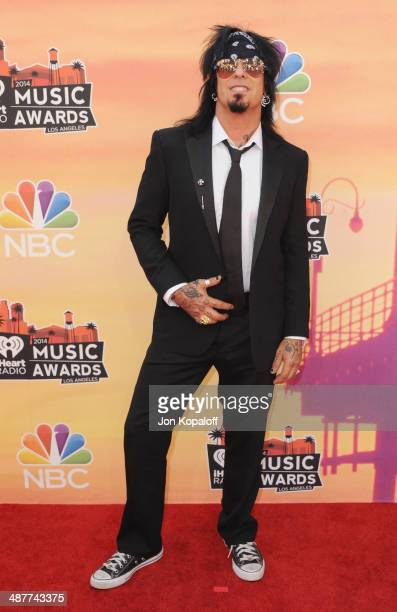 Nikki Sixx arrives at the 2014 iHeartRadio Music Awards at The Shrine Auditorium on May 1 2014 in Los Angeles California