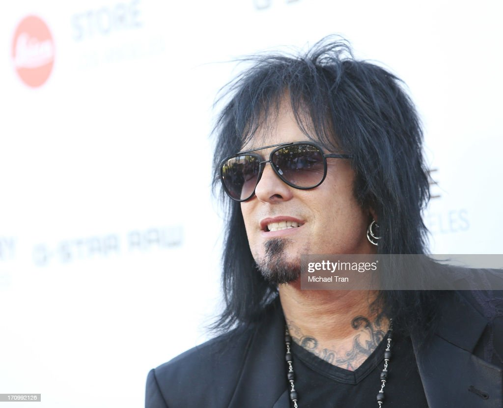 <a gi-track='captionPersonalityLinkClicked' href=/galleries/search?phrase=Nikki+Sixx&family=editorial&specificpeople=213311 ng-click='$event.stopPropagation()'>Nikki Sixx</a> arrives at the grand opening of the Leica Store Los Angeles held on June 20, 2013 in Los Angeles, California.