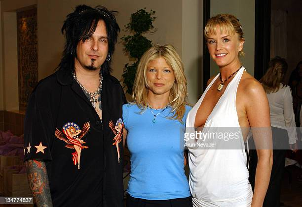 Nikki Sixx Donna D'Errico and Kylie Bax during Donna D'Errico Energy Muse Jewelry and Belladonna Public Relations Host an Open House Reception at...