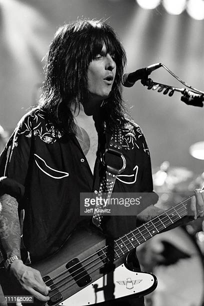 Nikki Sixx during 1990 MTV VMA's Rehearsal at Universal Amphitheater in Universal City CA United States