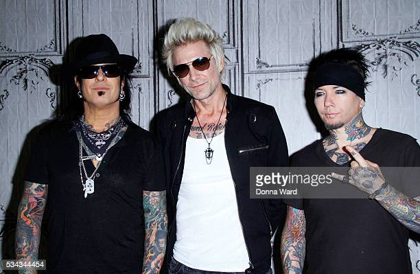 Nikki Sixx James Michael and DJ Ashba of SixxAM appears to promote 'Prayers or the Damned Vol 1 ' during AOL BUILD Seriesat AOL Studios In New York...