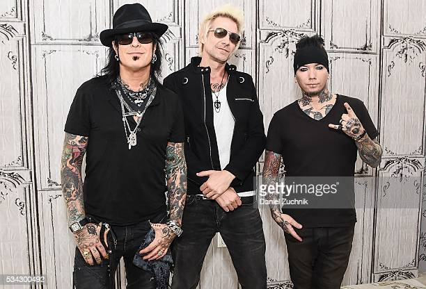 Nikki Sixx James Michael and DJ Ashba of the band SixxAM attend AOL Build to discuss their latest release 'Prayers For The Damned Vol 1' at AOL...