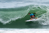 Nikki Van Dijk of Australia surfs during the Round 2 of the Oi Rio Pro on May 16 2015 in Rio de Janeiro Brazil