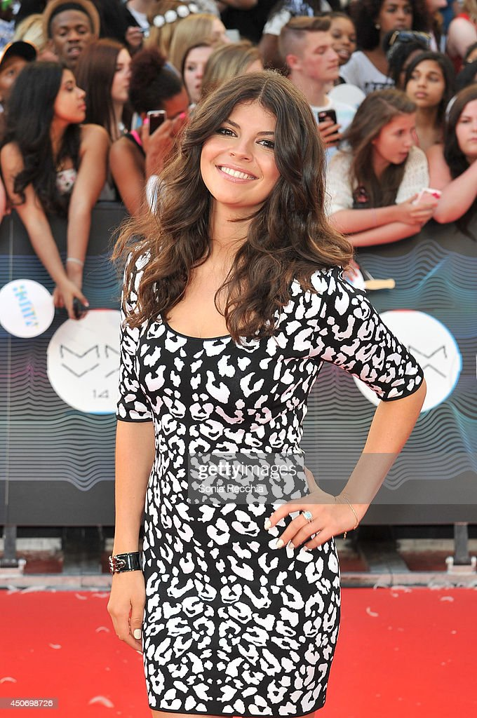 Nikki Yanofsky arrives at the 2014 MuchMusic Video Awards at MuchMusic HQ on June 15 2014 in Toronto Canada
