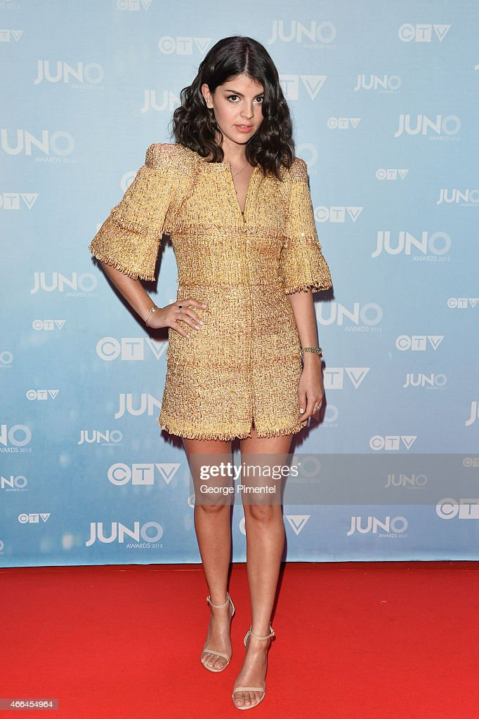 Nikki Yanofsky arrives at the 2015 Juno Awards at the FirstOntario Centre on March 15 2015 in Hamilton Canada