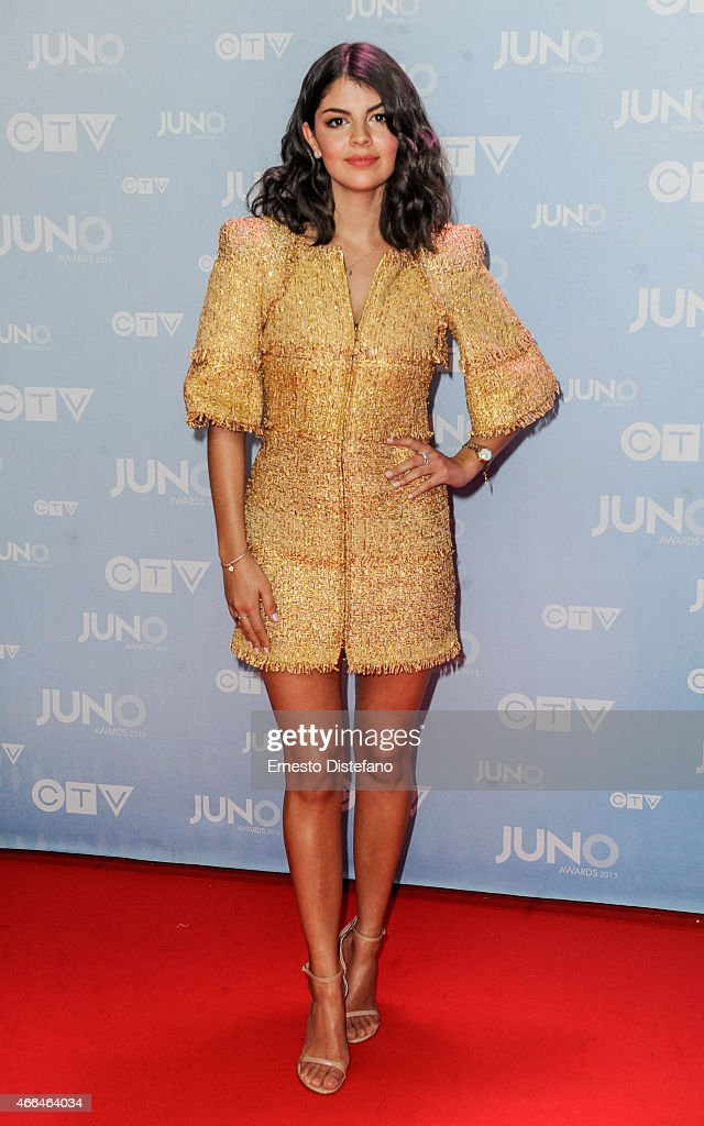 Nikki Yanofsky arrives at the Juno Awards at FirstOntario Centre on March 15 2015 in Hamilton Canada