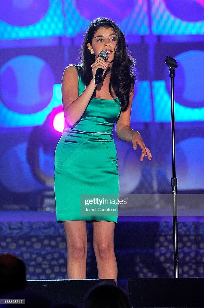 Nikki Yanofsky performs onstage during the 41st Annual Songwriters Hall of Fame Ceremony at The New York Marriott Marquis on June 17 2010 in New York...