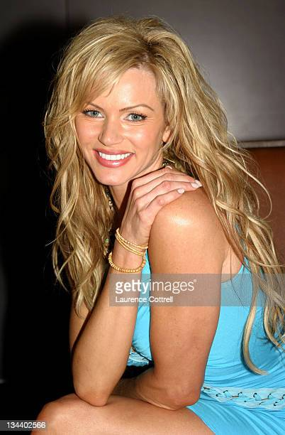 Nikki Ziering during Playboy's July Cover Model Nikki Ziering Playboy Playmates cast of American Wedding host a Private VIP Media Reception at...