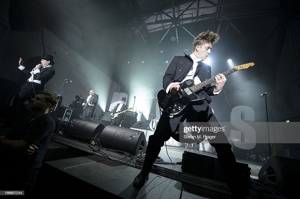 Niklas Almqvist of The Hives performs at Kesselhaus on November 24, 2012 in Munich, Germany.