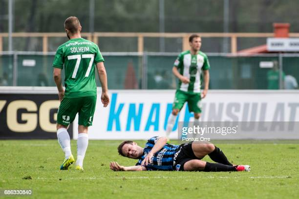 Niklas Busch Thor of IK Sirius FK during the Allsvenskan match between IK Sirius FK and Hammarby IF at Studenternas IP on May 21 2017 in Uppsala...