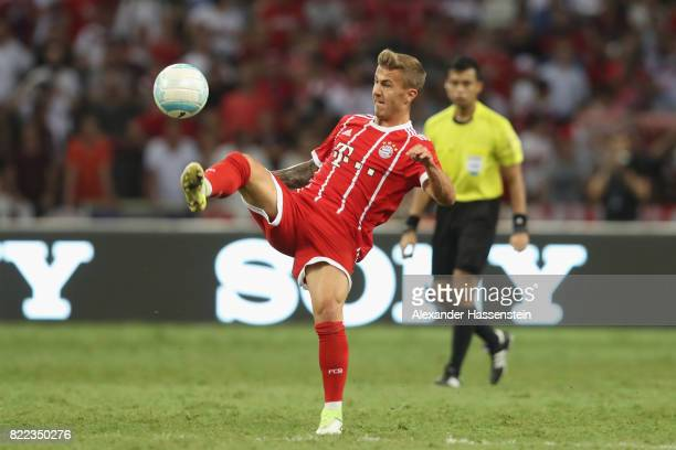Niklas Dorsch of Bayern Muenchen runs with the ball during the International Champions Cup 2017 match between Bayern Muenchen and Chelsea FC at...