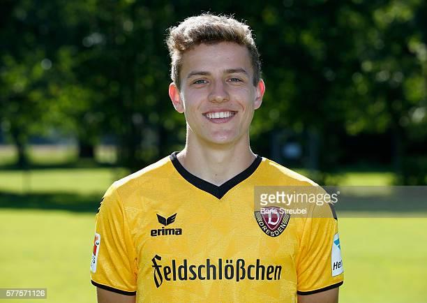 Niklas Hauptmann of Dynamo Dresden poses during the Dynamo Dresden Team Presentation on July 19 2016 in Dresden Germany