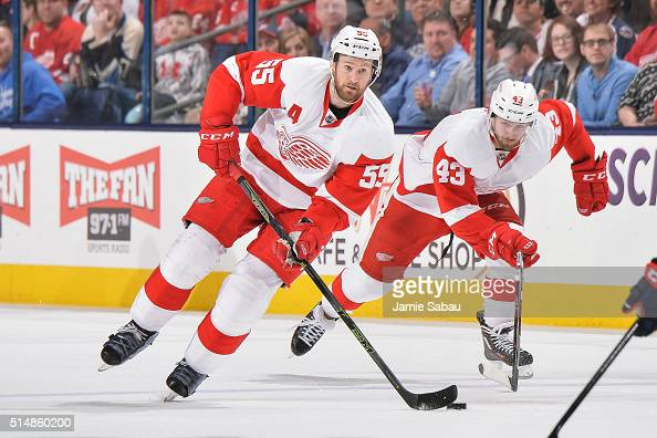 Niklas Kronwall of the Detroit Red Wings skates against the Columbus Blue Jackets on March 8 2016 at Nationwide Arena in Columbus Ohio