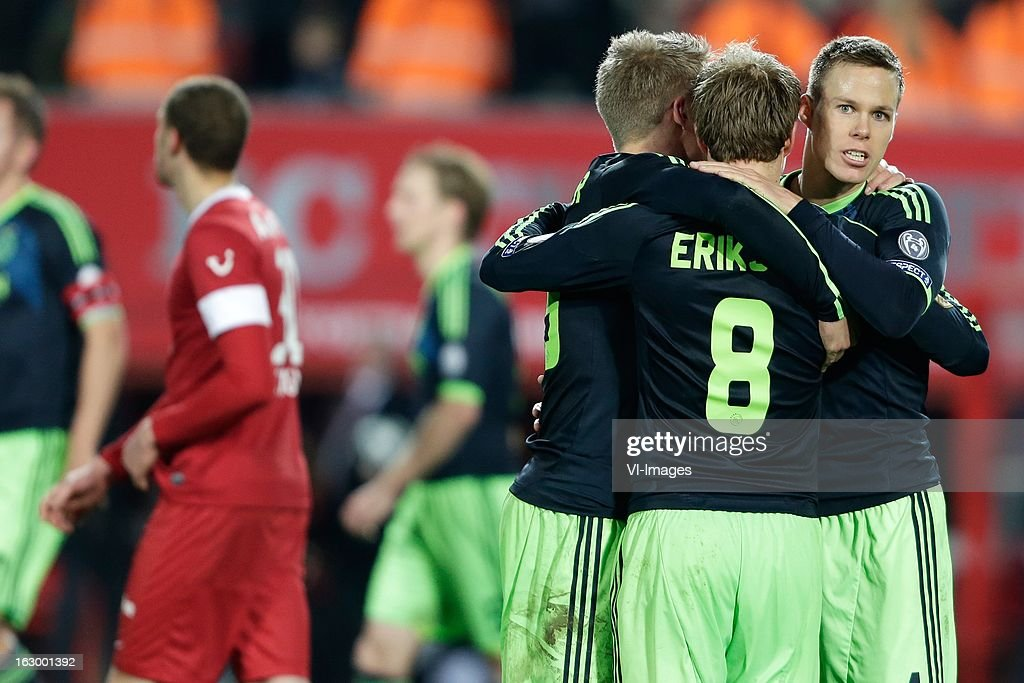 Niklas Moisander of Ajax (R) during the Dutch Eredivisie match between FC Twente and Ajax Amsterdam at the Grolsch Veste on march 02, 2013 in Enschede, The Netherlands