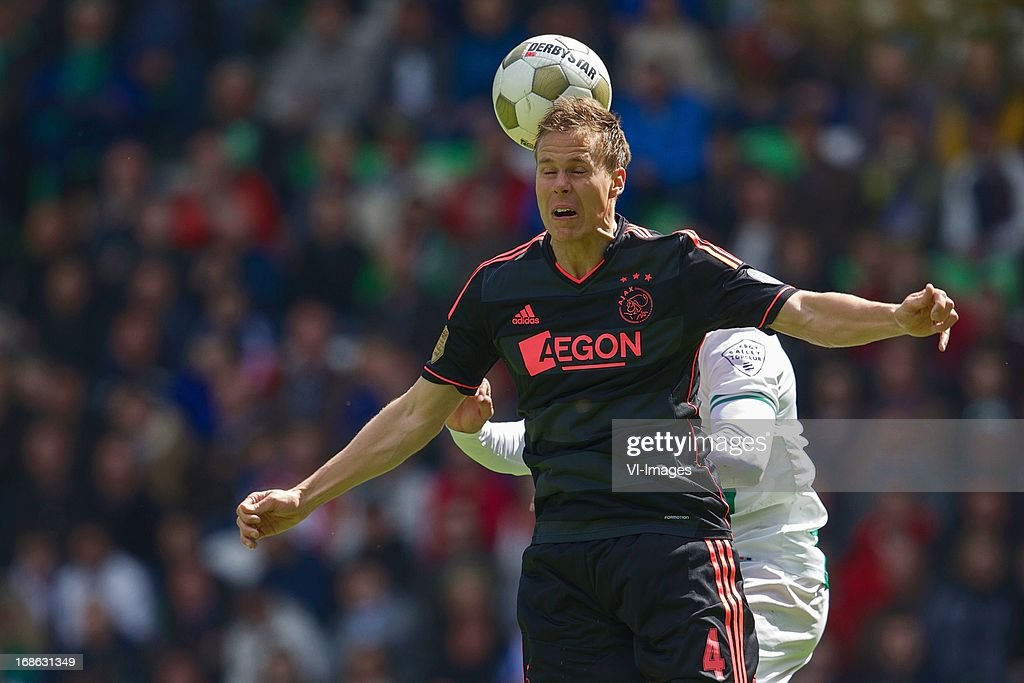 Niklas Moisander of Ajax during the Dutch Eredivisie match between FC Groningen and Ajax on May 12, 2013 at the Euroborg stadium in Groningen, The Netherlands.