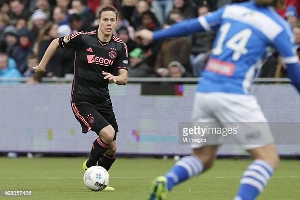 Niklas Moisander of Ajax during the Dutch Eredivisie match between PEC Zwolle and Ajax Amsterdam at IJsseldelta stadium on february 9 2014 in Zwolle...