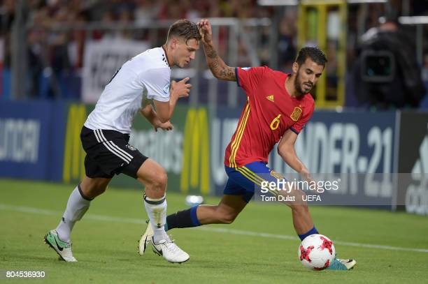 Niklas Stark of Germany and Dani Ceballos of Spain battle for possession during the UEFA European Under21 Championship Final between Germany and...