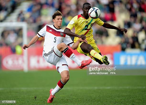Niklas Stark of Germany battles with Mohamed Diallo of Mali during the FIFA U20 World Cup New Zealand 2015 Quarter Final match between Mali and...