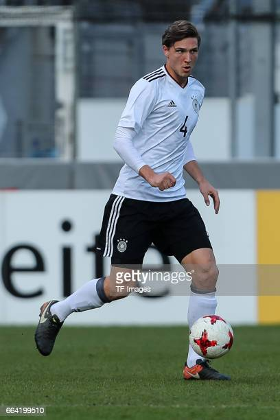 Niklas Stark of Germany controls the ball during the International Friendly match between Germany U21 and Portugal U21 at GaziStadion on March 28...