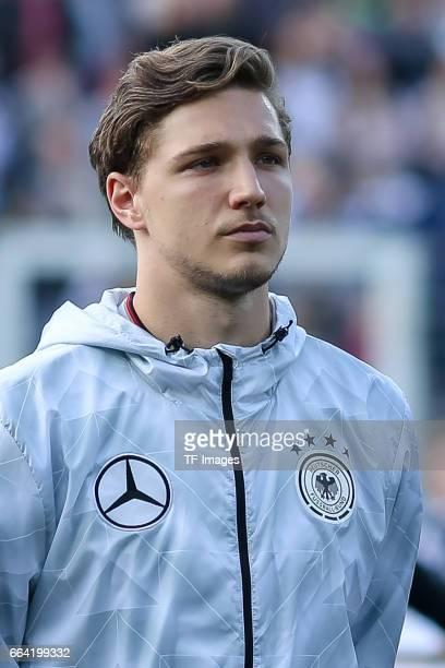 Niklas Stark of Germany looks on during the International Friendly match between Germany U21 and Portugal U21 at GaziStadion on March 28 2017 in...