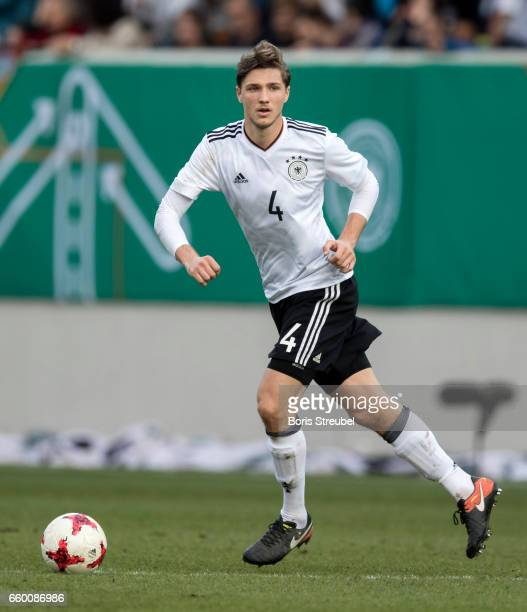 Niklas Stark of Germany runs with the ball during the International Friendly match between Germany U21 and Portugal U21 at GaziStadion on March 28...