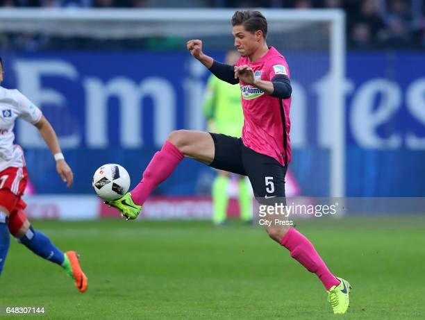 Niklas Stark of Hertha BSC during the game between Hamburger SV and Hertha BSC on march 5 2017 in Hamburg Germany