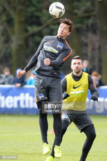 Niklas Stark of Hertha BSC during the training on march 15 2017 in Berlin Germany