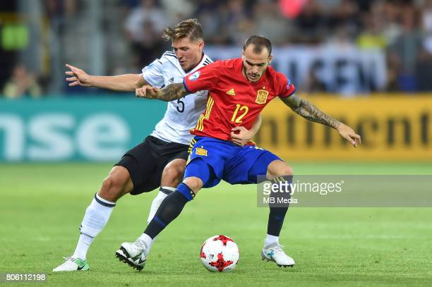 Niklas Stark Sandro Ramirez during the UEFA European Under21 final match between Germany and Spain on June 30 2017 in Krakow Poland