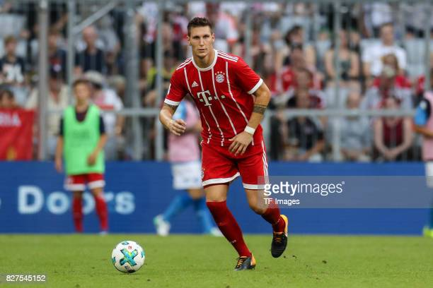 Niklas Suele of Bayern Muenchen controls the ball during the Audi Cup 2017 match between SSC Napoli and FC Bayern Muenchen at Allianz Arena on August...
