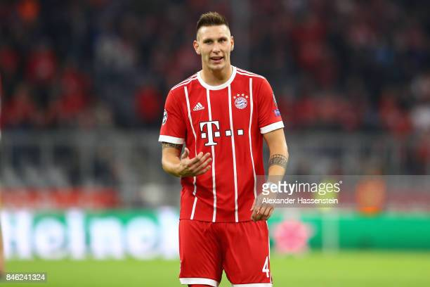 Niklas Suele of Bayern Muenchen looks on during the UEFA Champions League group B match between FC Bayern Muenchen and RSC Anderlecht at Allianz...