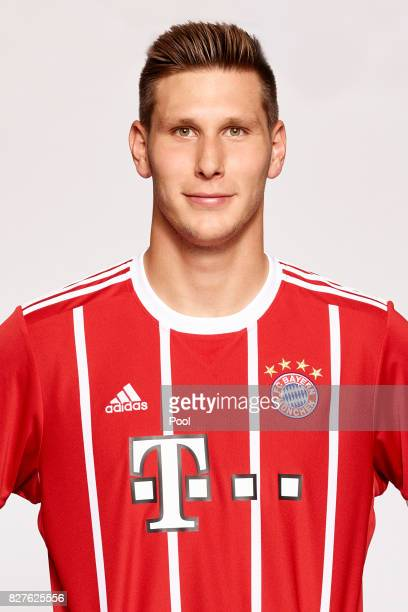 Niklas Suele of FC Bayern Muenchen poses during the team presentation at Allianz Arena on August 8 2017 in Munich Germany