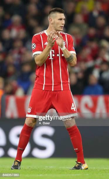 Niklas Suele of FC Bayern Muenchen reacts during the UEFA Champions League group B match between Bayern Muenchen and RSC Anderlecht at Allianz Arena...