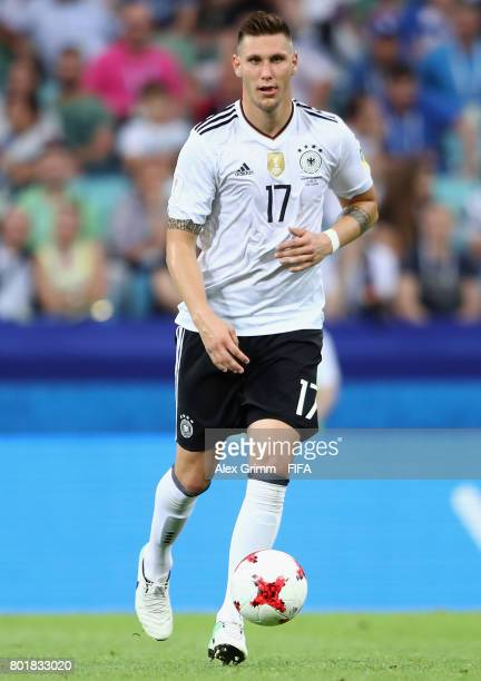 Niklas Suele of Germany controles the ball during the FIFA Confederations Cup Russia 2017 Group B match between Germany and Cameroon at Fisht Olympic...