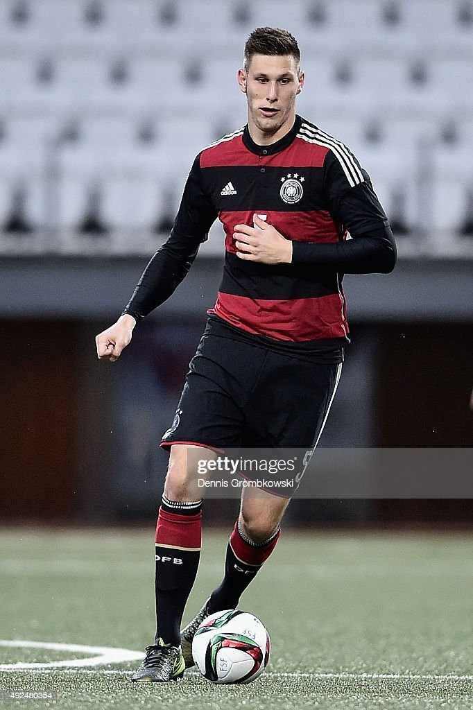 Niklas Suele of Germany controls the ball during the 2017 UEFA European U21 Championships Qualifier between U21 Faroe Islands and U21 Germany at...