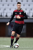 Niklas Suele of Germany controls the ball during the 2017 UEFA European U21 Championships Qualifier between U21 Faroe Islands and U21 Germany at...