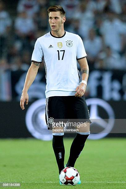 Niklas Suele of Germany controls the ball during the international friendly match between Germany and Finland at BorussiaPark on August 31 2016 in...