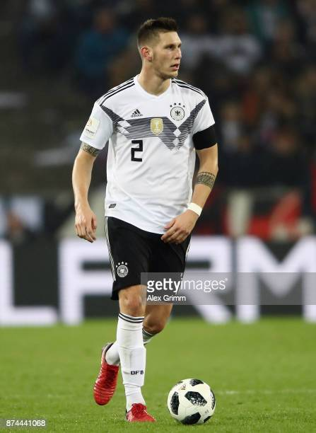 Niklas Suele of Germany controls the ball during the international friendly match between Germany and France at RheinEnergieStadion on November 14...
