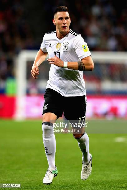 Niklas Suele of Germany in action during the FIFA Confederations Cup Russia 2017 Group B match between Germany and Chile at Kazan Arena on June 22...