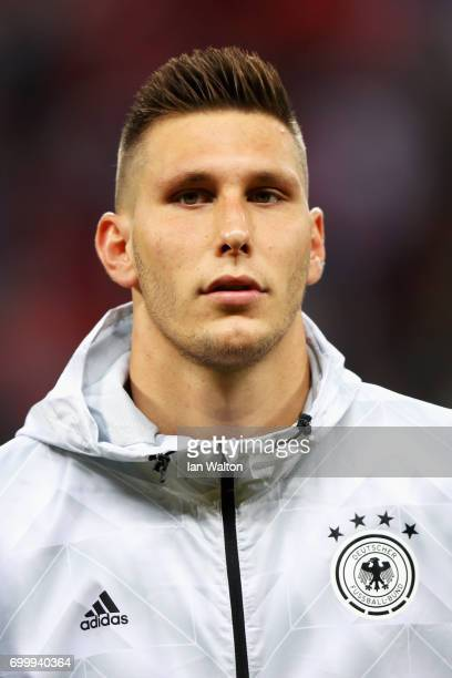 Niklas Suele of Germany lines up prior to the FIFA Confederations Cup Russia 2017 Group B match between Germany and Chile at Kazan Arena on June 22...