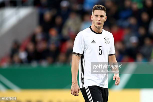 Niklas Suele of Germany looks on during the 2017 UEFA European U21 Championships Qualifier between Germany and Russia at Audi Sportpark on October 7...