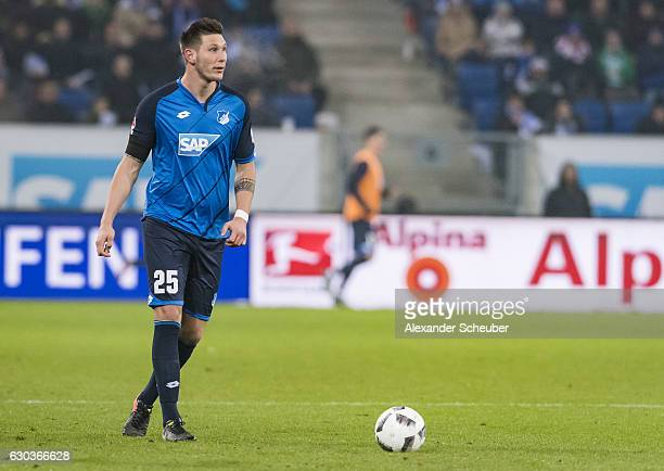 Niklas Suele of Hoffenheim in action during the Bundesliga match between TSG 1899 Hoffenheim and Werder Bremen at Wirsol RheinNeckarArena on December...