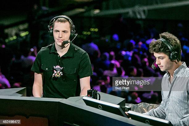 Niklas 'Wagamamma' Hogstrom comments on the game at The International DOTA 2 Championships on July 21 2014 in Seattle Washington